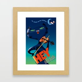 Hey diddle diddle vintage French style Framed Art Print