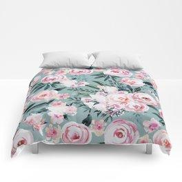 Watercolor Rose Comforters