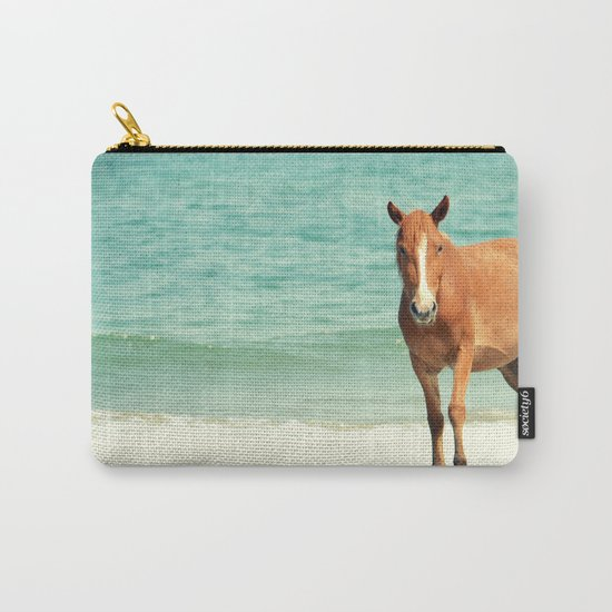 Wild Mustang of Carova, NC Carry-All Pouch