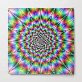 Psychedelic Explosion Metal Print