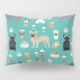 French Bulldog coffee pupuccino dog breed gifts frenchies must haves Pillow Sham