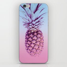 Light Blue and Pink Pineapple iPhone Skin
