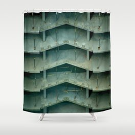 Building on construction Shower Curtain