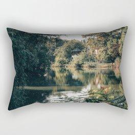 Summer Lake With the Arbor Rectangular Pillow