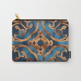 Blue Maiolica Carry-All Pouch