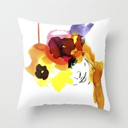 bloomy September Throw Pillow