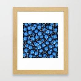 Kettlebells BLUE Framed Art Print