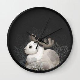 Deer. Cute Little fawn. Digital Art Wall Clock
