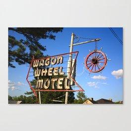 Route 66 - Wagon Wheel Motel 2012 Canvas Print