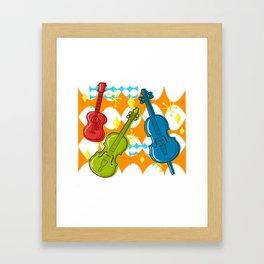 Sunny Grappelli String Jazz Trio Composition Framed Art Print
