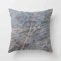 wood Throw Pillows featuring wood by Artemio Studio