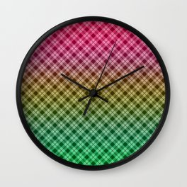 Ombre plaid #plaid #Ombre #gradient Wall Clock