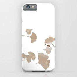 Ginkgo biloba leaf set. iPhone Case