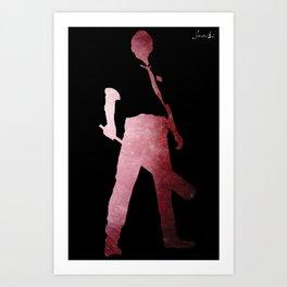 Riot man logo blanc colors urban fashion culture Jacob's 1968 Paris Art Print