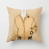 drive Throw Pillows featuring Drive by Marc Mif