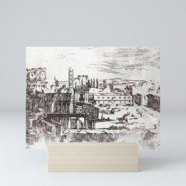 Ancient Rome in 17th century Mini Art Print