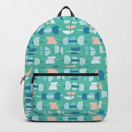 Sea Foam Green Abstract Semi Circle Geo Backpack