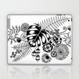 Tropical Leaves and Flowers Laptop & iPad Skin