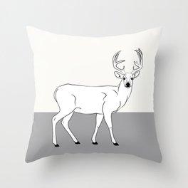 The Deer Throw Pillow