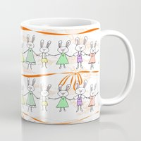 bunnies Mugs featuring Bunnies by Anchobee