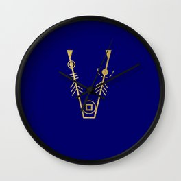 Sacred Geometry Letter V Wall Clock