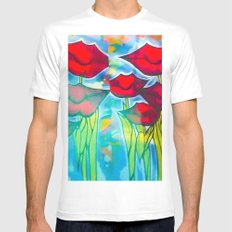 Blossom's Lips Mens Fitted Tee White MEDIUM