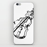 violin iPhone & iPod Skins featuring Violin by Azure Cricket