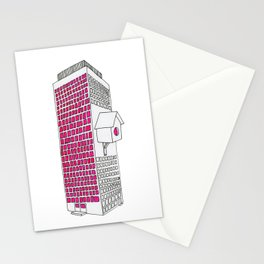 High rise birdhouse. Stationery Cards