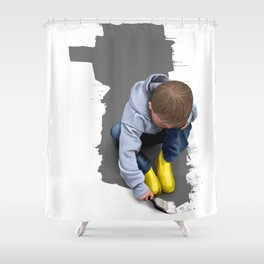 To Live with No Thought for the Future Shower Curtain