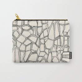 BROKEN black off white Carry-All Pouch