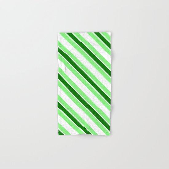Green stripes Hand & Bath Towel