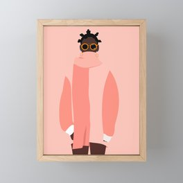 Pink winter Framed Mini Art Print