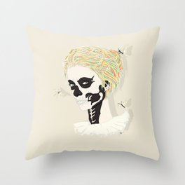 Skull Arlequin Throw Pillow