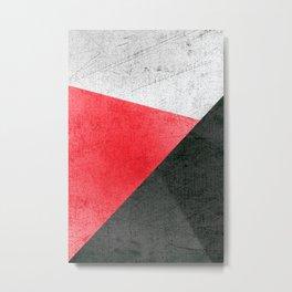 Modern Fuschisa & Black Geometric Metal Print