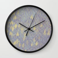 tree of life Wall Clocks featuring Tree Life by Sarah Hayes