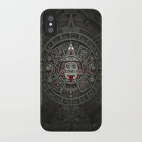 calendars iPhone & iPod Cases featuring Stone of the Sun I. by Dctr. Lukas Brezak