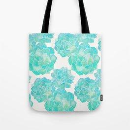 Rosette Succulents – Turquoise Palette Tote Bag