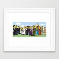 downton abbey Framed Art Prints featuring Downton Abbey cast by Adrien ADN Noterdaem