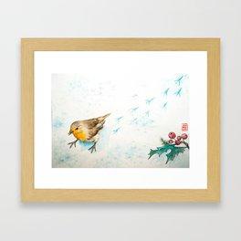 A winter morning Framed Art Print
