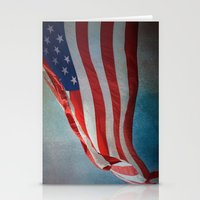american flag Stationery Cards featuring American Flag by Jai Johnson