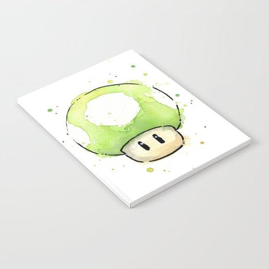 1UP Mushroom Painting Notebook