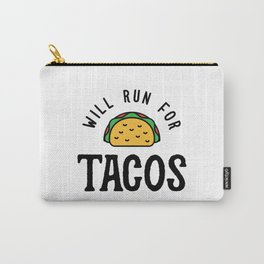 Will Run For Tacos v2 Carry-All Pouch