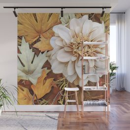 Autumn's Floral Wall Mural