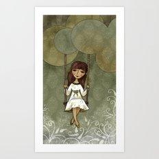 Hannah on a Swing Art Print