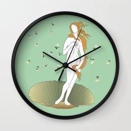 minimally botticelli Wall Clock