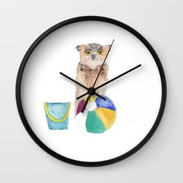 Owl's Day Out Wall Clock