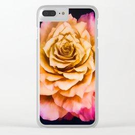 Wild Free Spirit Rose Clear iPhone Case