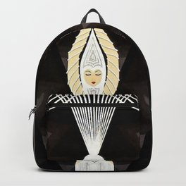 """Art Deco Design """"Pearl and Diamonds"""" Backpack"""