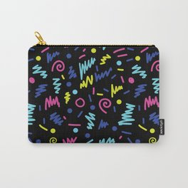 Vicky - 80s, 90s, bright neon, shapes, design, pattern, trendy, hipster, memphis design Carry-All Pouch