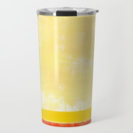 Abstract rainbow pattern in acrylic Travel Mug